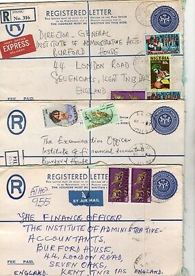 Nigeria Registered Airmail Covers X13 From Collection Bx1/15
