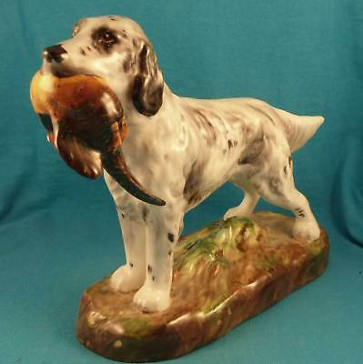Vintage Alton English setter w pheasant England bone china hunting dog & bird