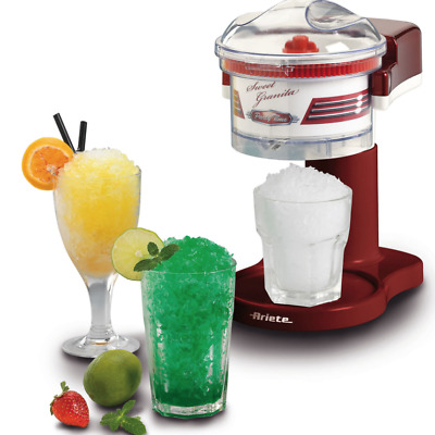Ariete ® Slushy Maker - Slurpy Flavoured Crush Ice Maker Red Retro Slushie New