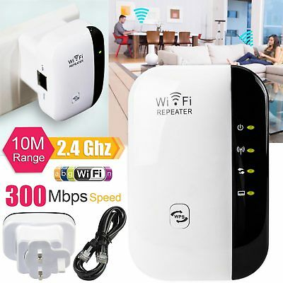 300Mbps Wireless WiFi Range Router Repeater Extender N 802.11 AP Booster UK Plug