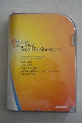 - Microsoft Office Small Business 2007 [2 Discs + Book] As New