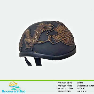 Gold Dragon Chopper Style Motorcycle Helmet For Harley Davidson & Scooter