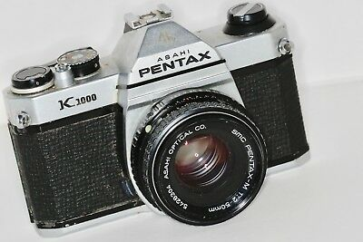 Pentax K1000 Film Camera with accessories