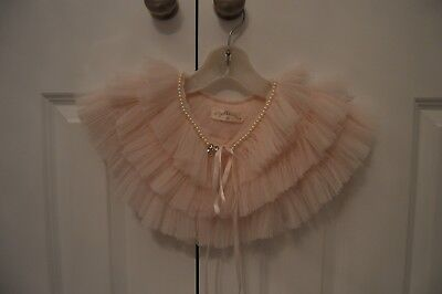 Dollcake Girls Pink Peach Tulle Cape With Pearl Neck Size Medium Brand New £0.99