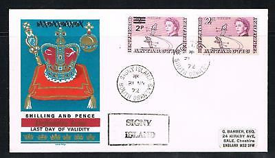 british antarctic territory shilling & pence last day of validity cover 1972