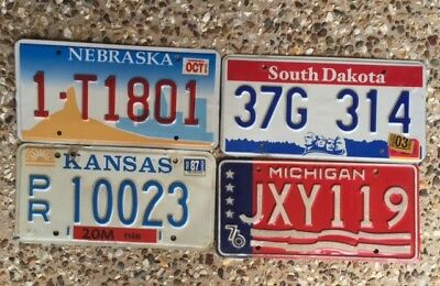 4 More Colourful American Number Plates From Different States
