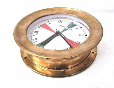 LARGE - SHIP'S CLOCK – Marine RADIO ROOM Clock – BRASS - Roman -  BOAT (5007B)
