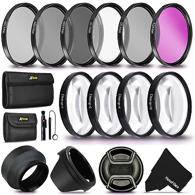 55MM Professional Lens Filter Accessory Kit + ND Filters +Close-up Macro Filters