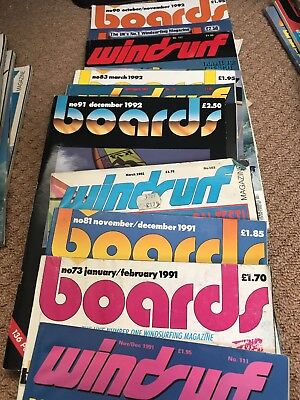 1991 and 1992 Windsurfing Magazines For Sale