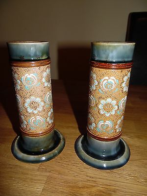Pair Of Royal Doulton Stoneware Spill Vases