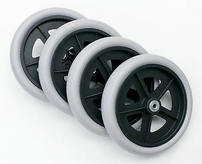 """Rollator Walker Replacement  Parts 8"""" Caster Wheel Grey Tire C4608 4 pcs  NEW"""