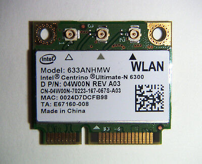 Intel Wifi Centrino Ultimate-N 6300 Dell Wireless (upto 450Mbps) tested s. pics!