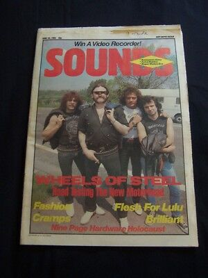 1984 Sounds Motorhead Cover + Interview + The Cramps + Flesh For Lulu + Fashion