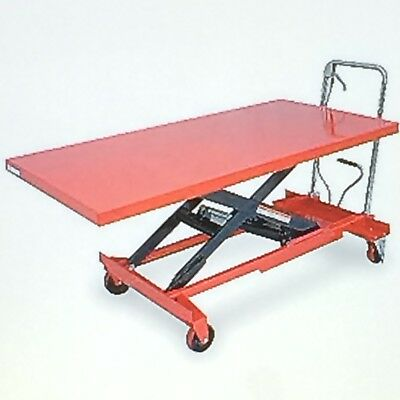 Table Lift Cart Hydraulic on Casters with Break 63 X 31-1/2  Model 4ZC18  NEW