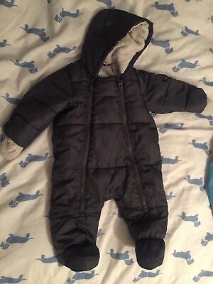 Polarn o pyret Baby Snow Suit ( 2-4 Months) pop Grey