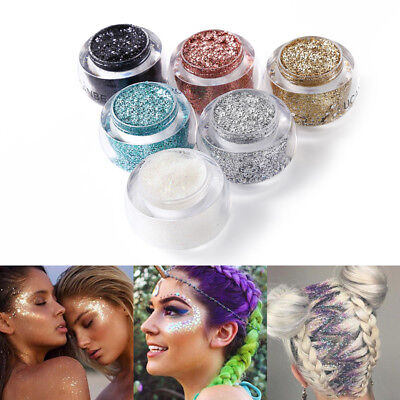 Hair / face / body GLITTER pots sparkling gel paste paint festival party metalic
