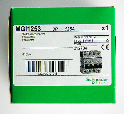 Merlin Gerin Schneider 125A Amps 3 Pole Main Incomer Switch Multi Acti 9 MGI1253