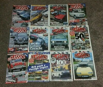 Classics Monthly Car Restorer Magazines Full Year 2001 Set 12 Issues Vintage