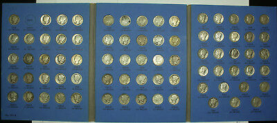 A Mixed Collection of Seventy Six (76) Mercury Dimes PDS. 1916 - 1945