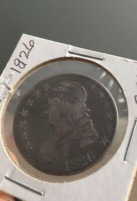 1826 Capped Bust Silver Half Dollar 50 cent