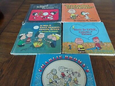 Charlie Brown Book Lot of 5
