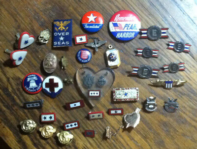 Lot 30+ WWII Sweetheart Son in Service Pearl Harbor Sterling GF RC Plus Others