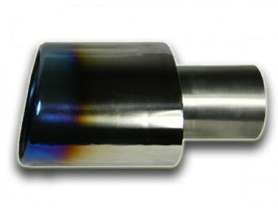 Real Titanium End Pipe 4 23/32x3 5/32in Oval, INLET PIPE 2.01in, Length 11,5cm,