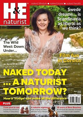H&E naturist March 2018 magazine nudist health efficiency