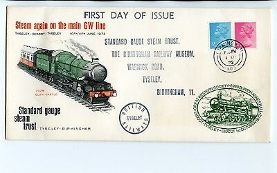 1972 Railway Commemorative Cover Steam On Great Western