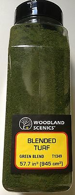 Woodland Scenics Blended Turf Green Blend # T1349 Factory Sealed
