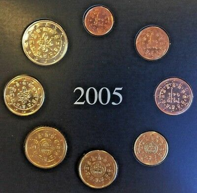 Portugal 2005 Complete Official Euro Proof Set 8 Coins COA