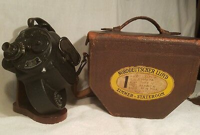 Vintage Bell And Howell Filmo Automatic Cine Camera W/ Orig. Leather Case & Key.