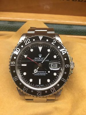 ROLEX GMT Master II-Black Dial-Model-16710-Serial T-1996-Mint condition With Box