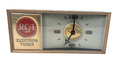 Vintage RCA Gold Electron Tubes Lighted Advertising Clock - AS IS - See Details!