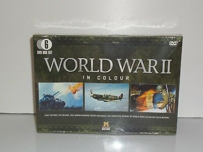 world war 2 in colour 6 dvd set new sealed box set