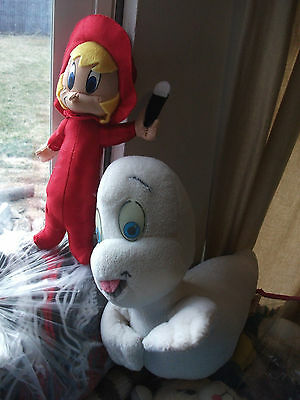Casper The Friendly Ghost GLOW IN THE DARK EYES & WENDY Plush Dakin HALLOWEEN XO