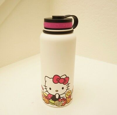 Hello Kitty Cafe Stainless Thermos Water Bottle Big 32oz New Limited Edition