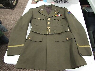 WWII U.S. Army LTC. of 2nd Armored Division medical officer tunic. 1st cavalry