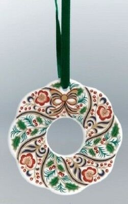 New Royal Crown Derby 1st Quality Wreath Christmas Tree Decoration / Bauble