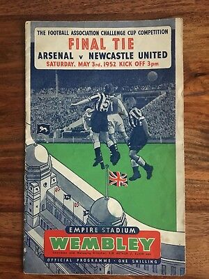 Arsenal v Newcastle united FA Cup Final 1952