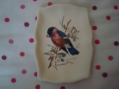 Axe Vale Pottery Devon Miniature Plate Bullfinch Picture
