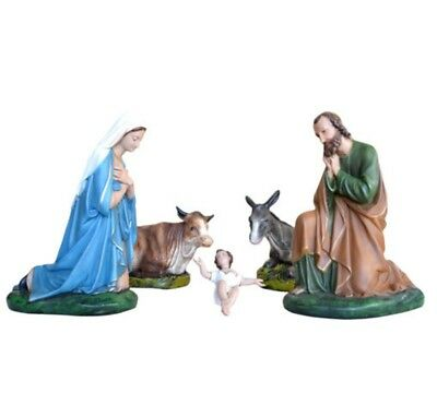 Presepe In Resina 5 Pezzi  Cm 46 Made In Italy Decorate A Mano