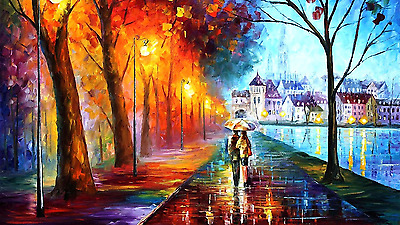 STUNNING OIL PAINTING  AUTUMN PICTURE CANVAS WALL ART LARGE 20x30 INCHES
