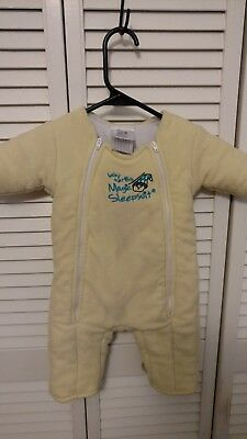 Baby Merlin's Magic Sleepsuit Cotton Yellow 6-9 Months (18-21 lbs)