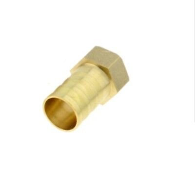 """19mm Hose Barb Tail - 1/2"""" BSP Female Thread Straight Brass Connector Fitting"""