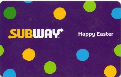 SUBWAY GIFT CARD no value 2018 HAPPY EASTER   *JUST RELEASED*