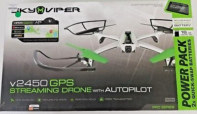 Sky Viper V2450 Pro Series GPS Streaming Video Drone with Autopilot Quadcopter