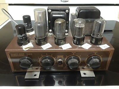 Vintage Grommes Custom HiFi 6V6 Tube Amplifier 1950's!
