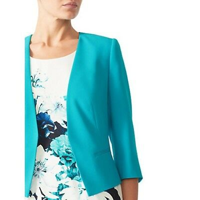 Jacques Very Turquoise Jacket Size 16