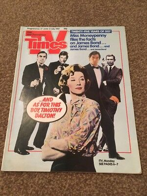 TV Times. 25 Years of James Bond. 27 June - 3 July 1987